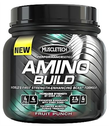 DROPPED: Muscletech Products - Amino Build Performance Series BCAA Formula Green Apple - 267 Grams