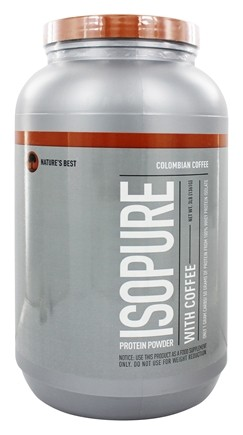 Nature's Best - Isopure Protein Powder Coffee Colombian - 3 lbs.