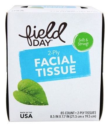 Field Day - Facial Tissue 100% Recycled - 85 Count