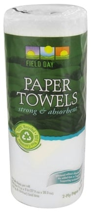 DROPPED: Field Day - Paper Towels 100% Recycled 2-Ply 60 Sheets - 1 Roll(s)