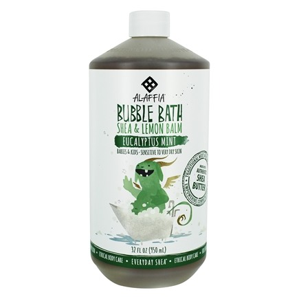 Alaffia - Everyday Shea Moisturizing Shea Butter Bubble Bath Comforting Eucalyptus Mint - 32 oz.