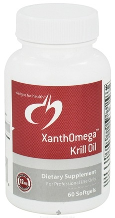 DROPPED: Designs For Health - XanthOmega Krill Oil - 60 Softgels CLEARANCE PRICED