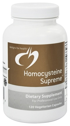 DROPPED: Designs For Health - Homocysteine Supreme - 120 Vegetarian Capsules