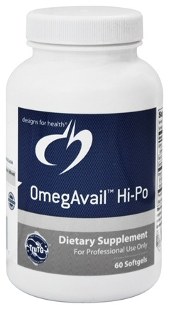DROPPED: Designs For Health - OmegAvail Hi-Po - 60 Softgels
