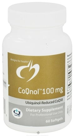 DROPPED: Designs For Health - CoQnol 100 mg. - 60 Softgels CLEARANCE PRICED