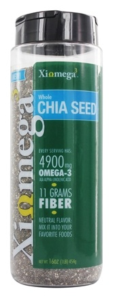 XiOmega - Whole Chia Seed - 16 oz.