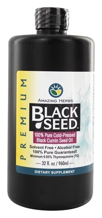 Amazing Herbs - Black Seed Cold-Pressed Oil - 32 oz.