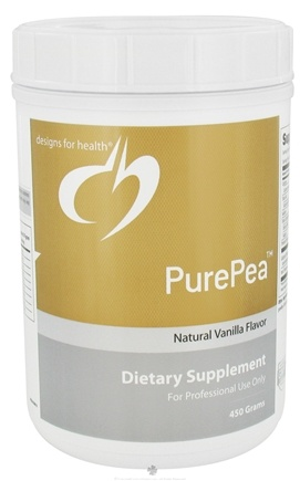 DROPPED: Designs For Health - PurePea Natural Vanilla Flavor - 450 Grams