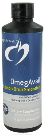 DROPPED: Designs For Health - OmegaAvail Lemon Drop Smoothie - 16 oz.