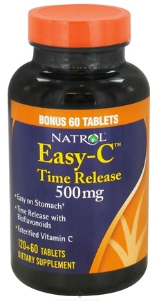 DROPPED: Natrol - Easy-C Time Release 500 mg. - 180 Tablets