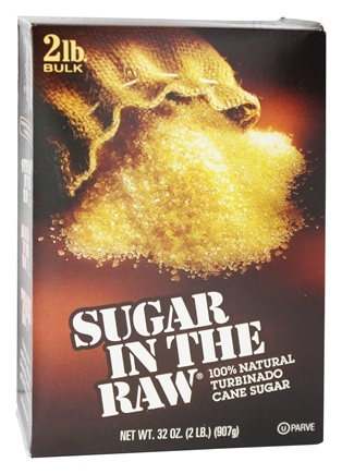 In The Raw - Sugar In The Raw Natural Cane Turbinado Sugar From Hawaii - 2 lbs.