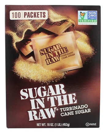 In The Raw - Sugar In The Raw Natural Cane Turbinado Sugar From Hawaii - 100 Packet(s)