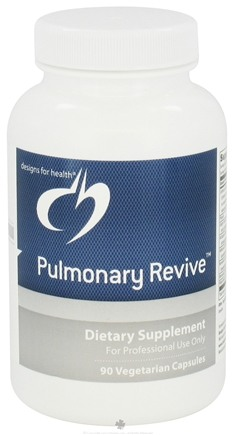 DROPPED: Designs For Health - Pulmonary Revive - 90 Vegetarian Capsules CLEARANCE PRICED