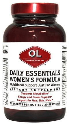 DROPPED: Olympian Labs - Daily Essentials Women's Formula - 30 Tablets
