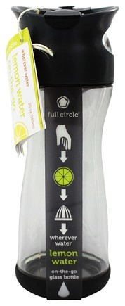 DROPPED: Full Circle - Lemon Water On-the-Go Glass Bottle Blackberry - 20 oz.