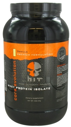 DROPPED: HIT Supplements - Core Evolution Whey Protein Isolate Vanilla 30 Servings - 832.29 Grams CLEARANCE PRICED