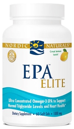 DROPPED: Nordic Naturals - EPA Elite Lemon 1000 mg. - 60 Softgels