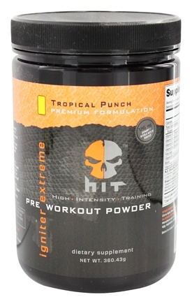 DROPPED: HIT Supplements - Igniter Extreme Pre Workout Powder Tropical Punch 25 Servings - 360.43 Grams CLEARANCE PRICED
