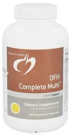 DROPPED: Designs For Health - DFH Complete Multi With Copper - 180 Capsules CLEARANCE PRICED