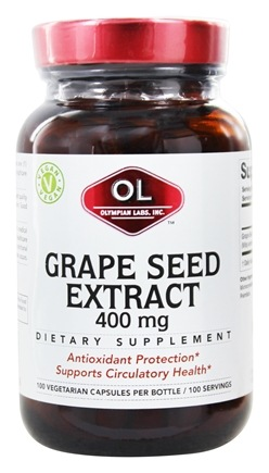 Olympian Labs - Grape Seed Extract 400 mg. - 100 Vegetarian Capsules