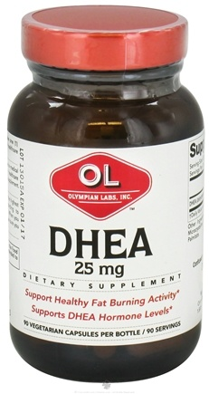 DROPPED: Olympian Labs - DHEA 25 mg. - 90 Vegetarian Capsules CLEARANCE PRICED
