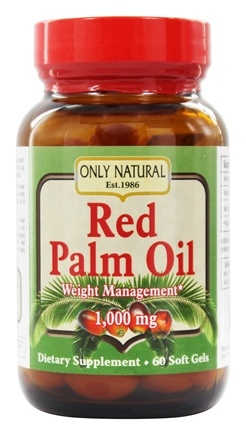DROPPED: Only Natural - Red Palm Oil 1000 mg. - 60 Softgels