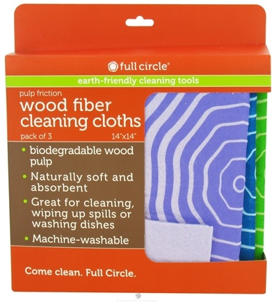 DROPPED: Full Circle - Pulp Friction Wood Fiber Cleaning Cloths - 3 Pack