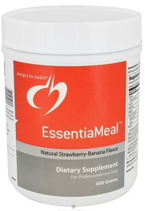 DROPPED: Designs For Health - EssentiaMeal Natural Strawberry Banana Flavor - 450 Grams CLEARANCE PRICED