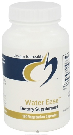 DROPPED: Designs For Health - Water Ease - 100 Vegetarian Capsules CLEARANCE PRICED
