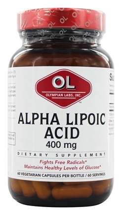 Olympian Labs - Alpha Lipoic Acid 400 mg. - 60 Vegetarian Capsules LUCKY PRICE