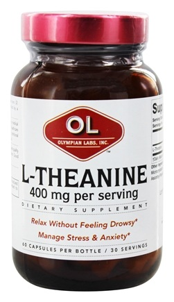 Olympian Labs - L-Theanine 400 mg. - 60 Vegetarian Capsules