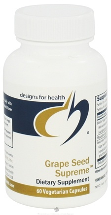 DROPPED: Designs For Health - Grape Seed Supreme - 60 Vegetarian Capsules CLEARANCE PRICED