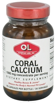 DROPPED: Olympian Labs - Coral Calcium 1000 mg. - 90 Capsules CLEARANCE PRICED