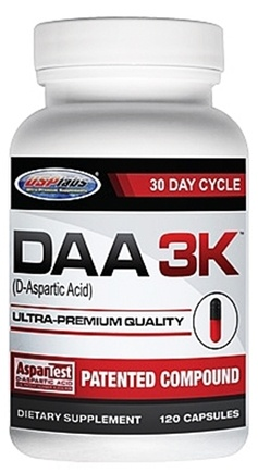 DROPPED: USP Labs - DAA 3K D-Aspartic Acid Ultra-Premium Quality 30 Day Cycle 3000 mg. - 120 Capsules