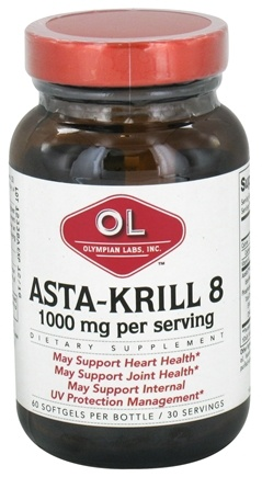 DROPPED: Olympian Labs - Asta-Krill 8 1000 mg. - 60 Softgels