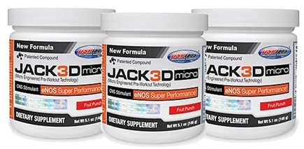 DROPPED: USP Labs - Jack3d Micro Fruit Punch (5.1 oz. each) - 3 Pack