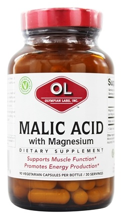 Olympian Labs - Malic Acid with Magnesium - 90 Vegetarian Capsules