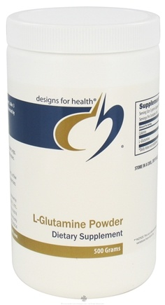 DROPPED: Designs For Health - L-Glutamine Powder - 500 Gram(s) CLEARANCE PRICED