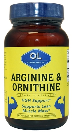 DROPPED: Olympian Labs - Arginine & Ornithine - 100 Capsules CLEARANCE PRICED