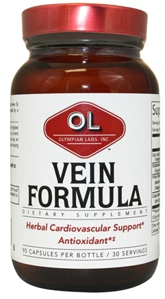 DROPPED: Olympian Labs - Vein Formula - 90 Capsules CLEARANCE PRICED