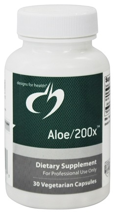 DROPPED: Designs For Health - Aloe/200 X - 30 Vegetarian Capsules CLEARANCE PRICED