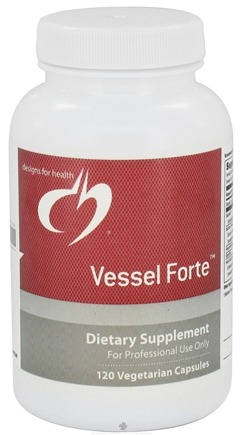 DROPPED: Designs For Health - Vessel Forte - 120 Vegetarian Capsules CLEARANCE PRICED