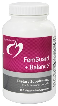 DROPPED: Designs For Health - Femguard + Balance - 120 Vegetarian Capsules