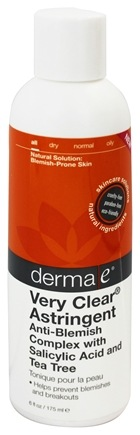 DROPPED: Derma-E - Very Clear Astringent Anti-Blemish Complex with Salicylic Acid and Tea Tree - 6 oz.