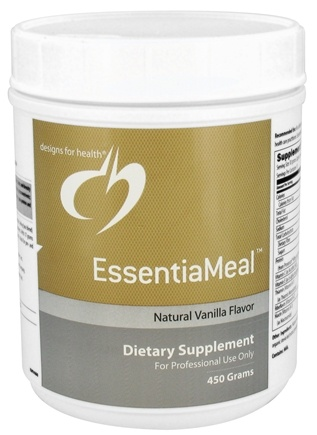 DROPPED: Designs For Health - EssentiaMeal Natural Vanilla Flavor - 450 Grams CLEARANCE PRICED