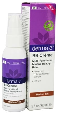 DROPPED: Derma-E - Evenly Radiant BB Creme Multi-Functional Mineral Beauty Balm Fragrance Free Medium Tint 25 SPF - 2 oz.