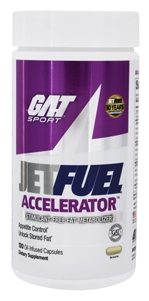 DROPPED: GAT - JetFuel Accelerator Stimulant-Free - 120 Capsules CLEARANCE PRICED