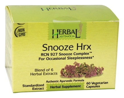 DROPPED: Herbal Destination - Snooze Hrx RCN 927 Snooze Complex 850 mg. - 60 Vegetarian Capsules CLEARANCE PRICED