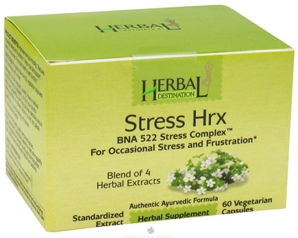 DROPPED: Herbal Destination - Stress Hrx BNA 522 Stress Complex 690 mg. - 60 Vegetarian Capsules CLEARANCE PRICED