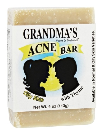 Remwood Products Co. - Grandma's Pure & Natural Acne Bar With Thyme For Oily Skin - 4 oz.